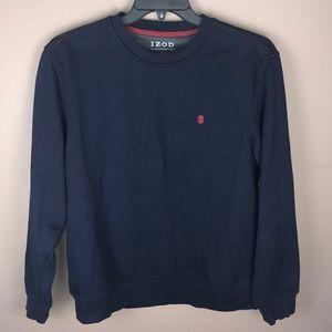 Izod Fleece Navy Pullover Sweatshirt